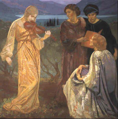Irma von Duczynska (1869 Lemberg - 1932 Wiesneck) Harmonie, 1914. Tempera, 70,9 x 70,5 in. / 180 x 179 cm
