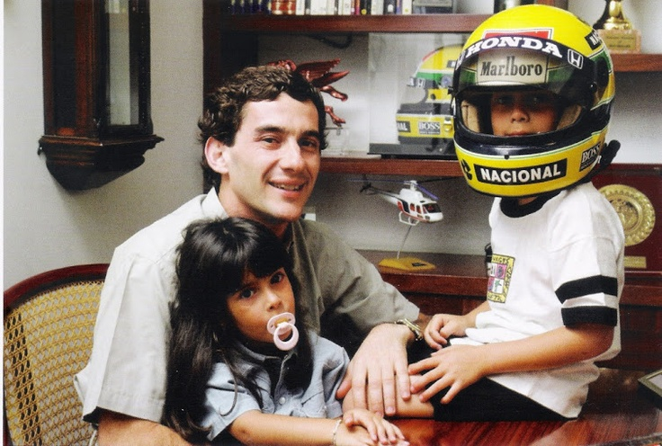 Bruno Senna With His Uncle Ayrton Senna...