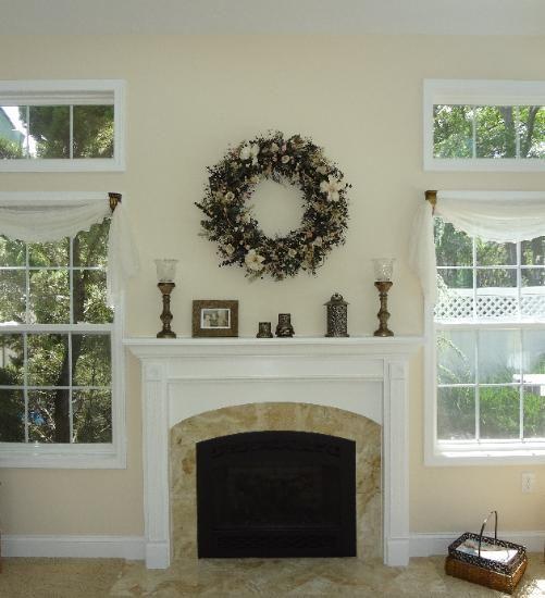 Decorating Above Fireplace Mantel