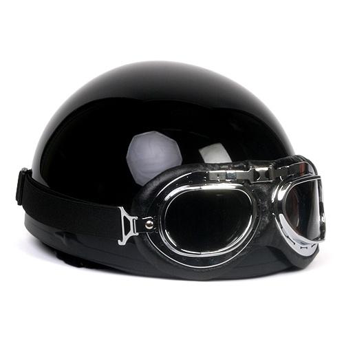 Vintage motorcycle half helmet