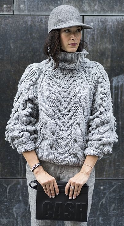 chunky knit pullover by Barbara Bui