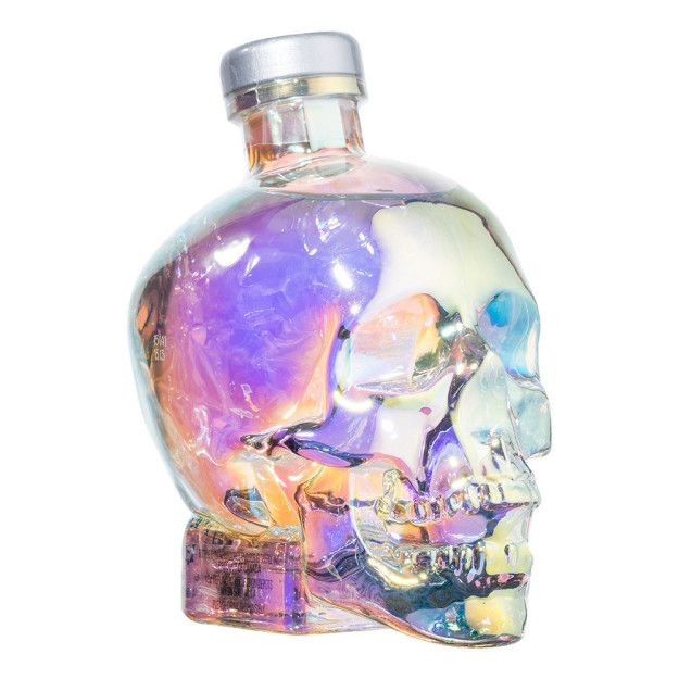 Like the glass skull? It's actually a Crystal Head Vodka Bottle. | This Skull Full Of Magnetic Fluid Is So Strangely Satisfying