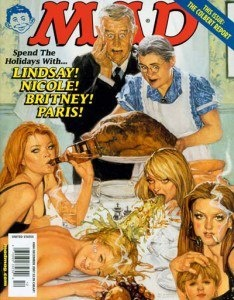 Mad Magazine Thanksgiving cover I have original oil paintings available on my ebay! check them out! treat yourself for the holidays! happy bidding!  http://www.ebay.com/itm/301050066155 thank you Richard Williams