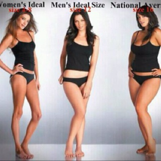 This just shows being a size 0 is not pretty. More curves is so ...