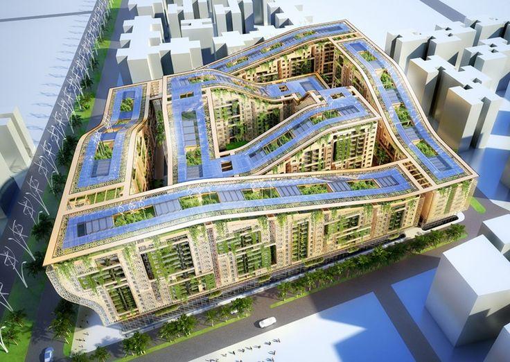 Les 31 meilleures images du tableau ville de demain sur for Architecture futuriste ecologique