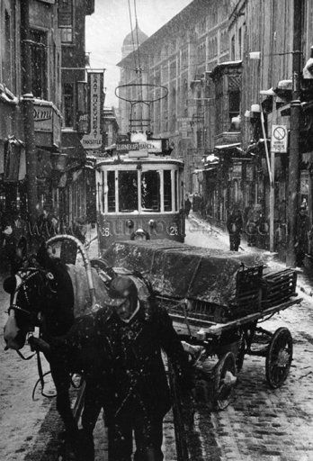 Sirkeci, istanbul, 1956  by Ara Güler