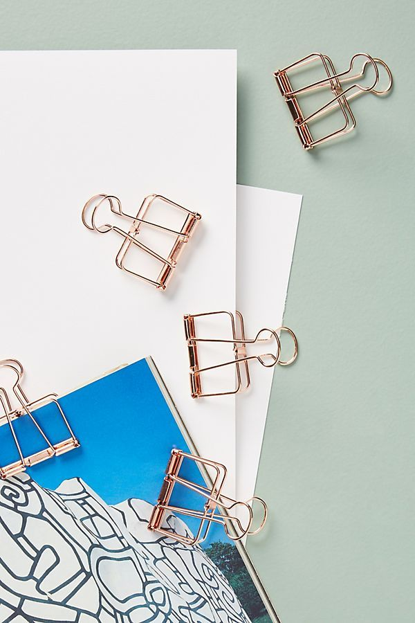 ledger binder clips set of 5 in 2018 blue white decor