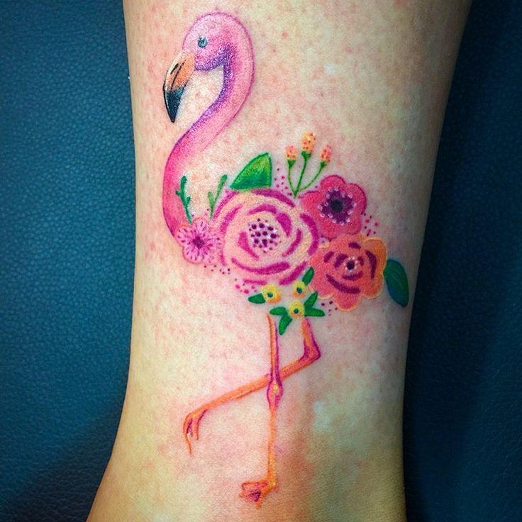 Flamingo tattoo I just got :)
