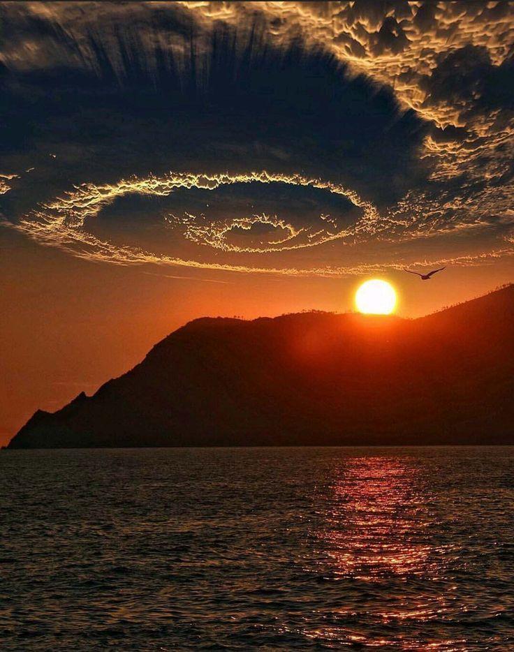 Рисунок, картинки природа закат солнца