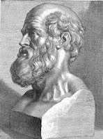 13 juli 2011: Primum non nocere. Foto: Hippocrates, de grondlegger van de moderne medische wetenschap aan wie de eed en de titel van dit stuk [Primum non nocere: doe om te beginnen geen kwaad] worden toegeschreven.