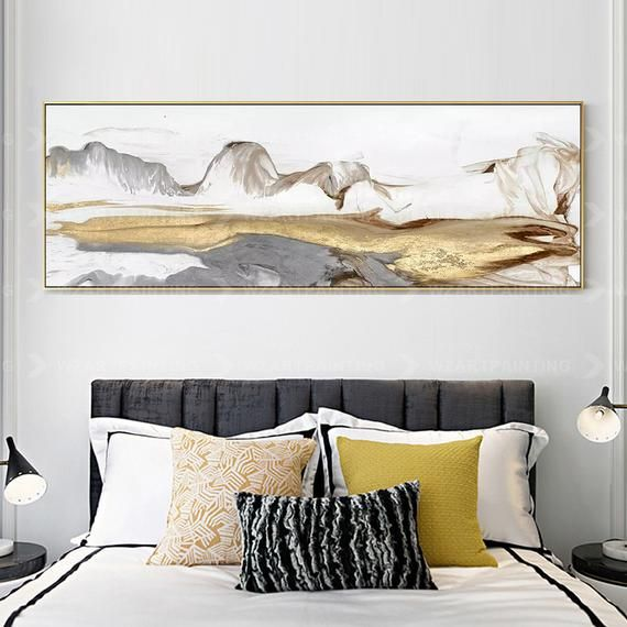 Abstract Print Acrylic Mountain Print On Canvas Art Gold And White Ready To Hang Framed Painting Print Art Wall Art Home Decor Wall Pictures Acrylic Prints Canvas Prints Custom Canvas Prints