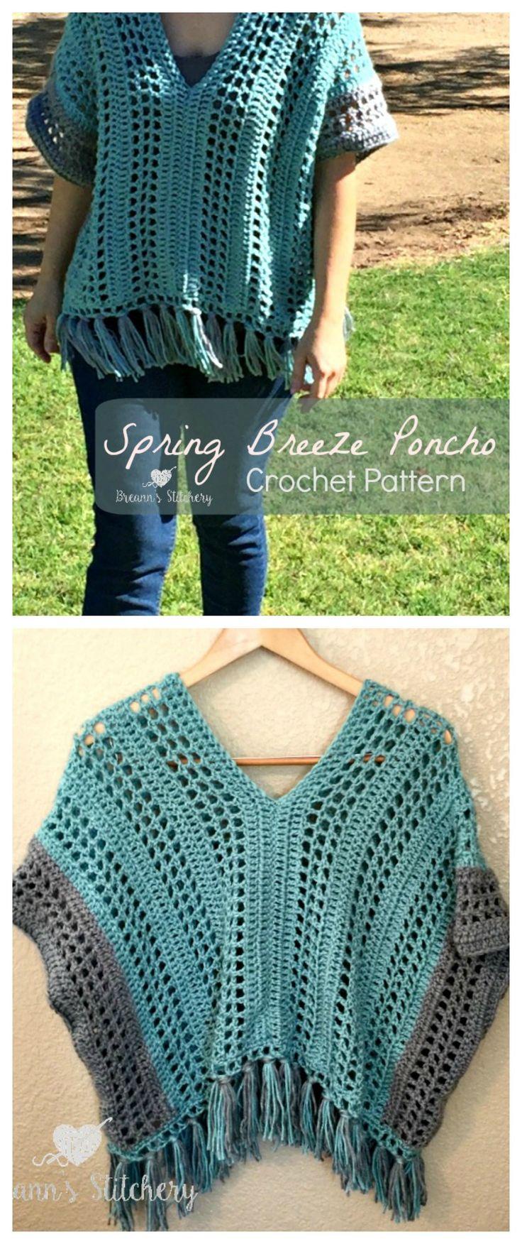 Spring Breeze Poncho By Breann - Free Crochet Pattern - (breannsstitchery)
