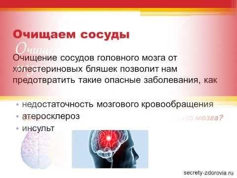 Очищение сосудов головного мозга в домашних условиях - YouTube
