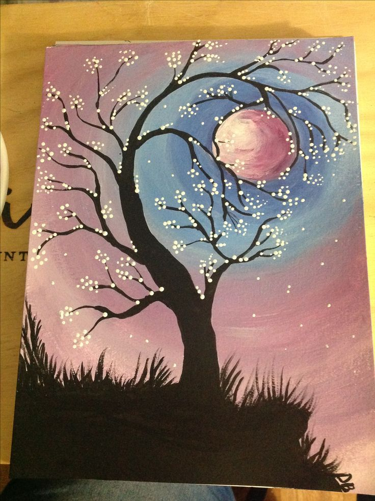 Easy Painting Ideas Canvas Painting Diy Night Painting Painting