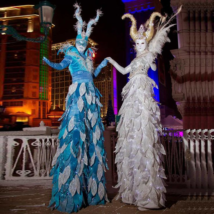 LED stilts luminous clothes LED Clothing Circus Costume