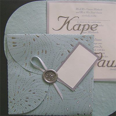 Ref Clover EFW Blue (we can do any colour) www.weddingcards.co.za