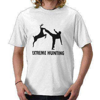 Extreme Hunting Deer Karate Kick Tshirt