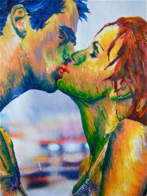 The kiss #creativemoi #painting