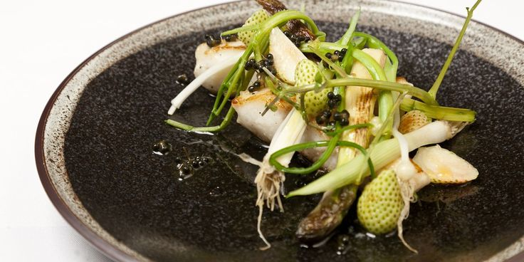 Turbot is paired with white asparagus and elderflower in this gorgeous turbot recipe from Scandanavian chef Christoffer Hruskova.