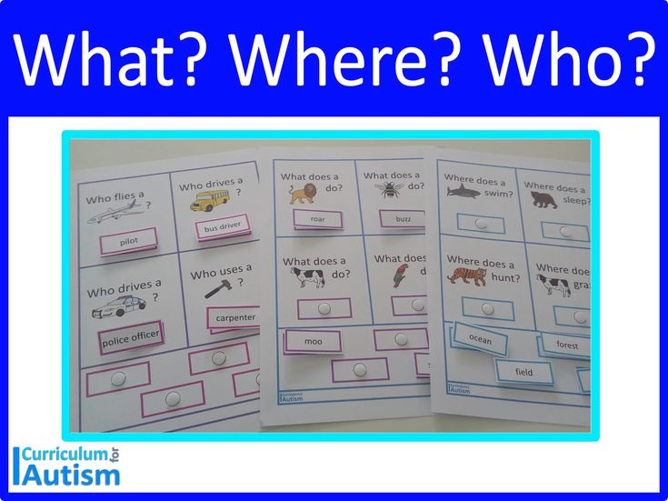 What The place Who Questions impartial activity in your #autism #specialeducation class, useful resource room or…