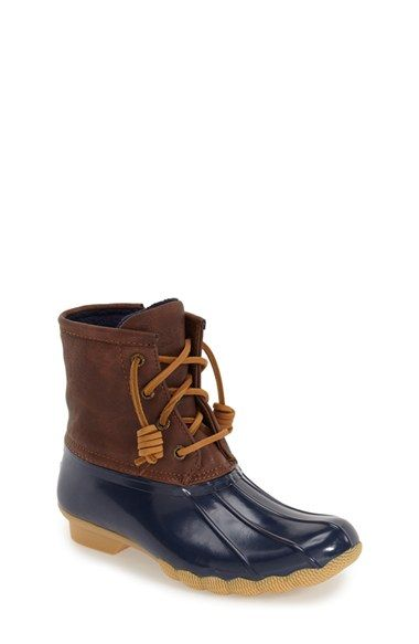 Sperry Kids 'Saltwater' Duck Boot (Toddler, Little Kid & Big Kid) available at #Nordstrom