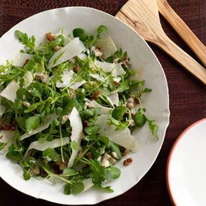 Tossed with a healthy mix of lettuces such as arugula and watercress ...