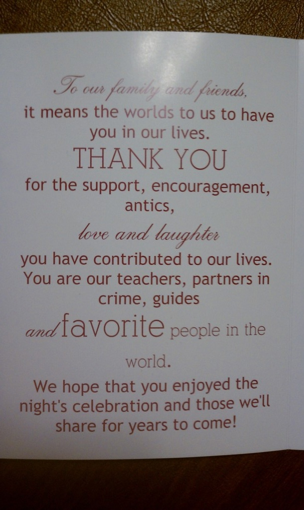 thank you note always give a card no matter what type of occassion it ...