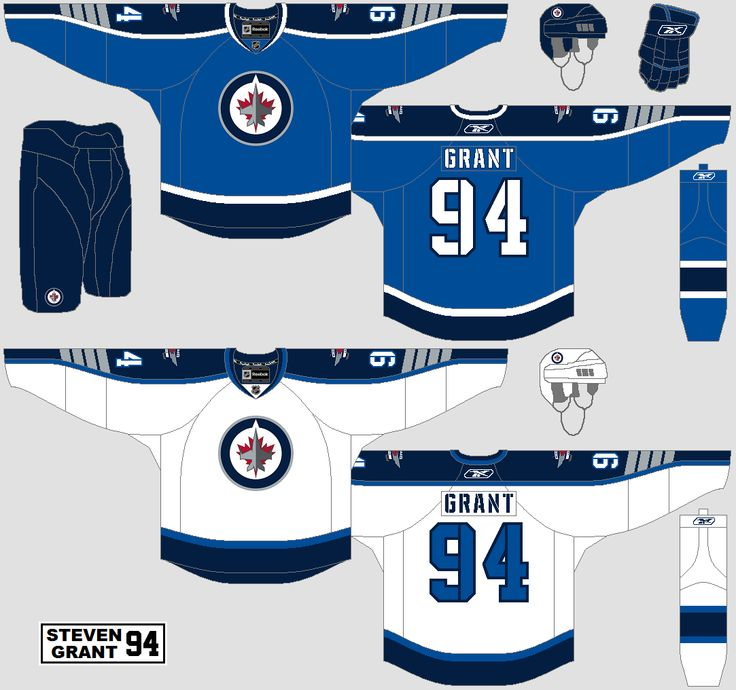 What the colours should look like on the Jets jerseys
