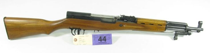 Lot 44 in the 11.5.13 online & live auction! A vintage Norinco Model SKS in very nice condition. Firearm grades at 98% and appears to be all original. Features a beautiful as issued wood stock and folding flat blade spike type bayonet. Magazine is missing but a very easy item to replace. This vintage military type rifle is very hard to obtain in this condition. #Gun #Shooting #Hunting #POGAuctions