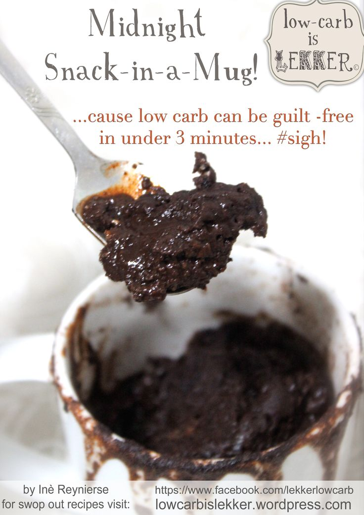 Banting / LCHF Midnight mug