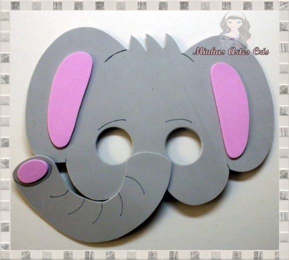 Mascaras en foami de elefante - Imagui