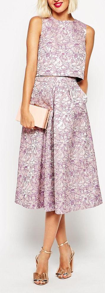 jacquard layered midi dress