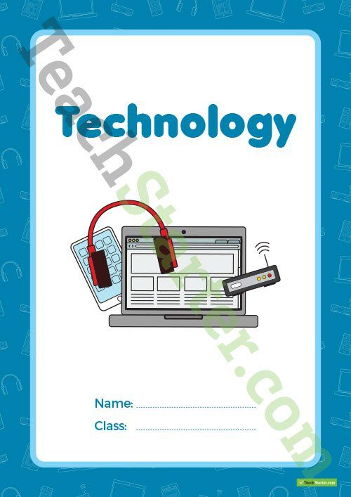Technology Book Cover – Version 2 Teaching Resource