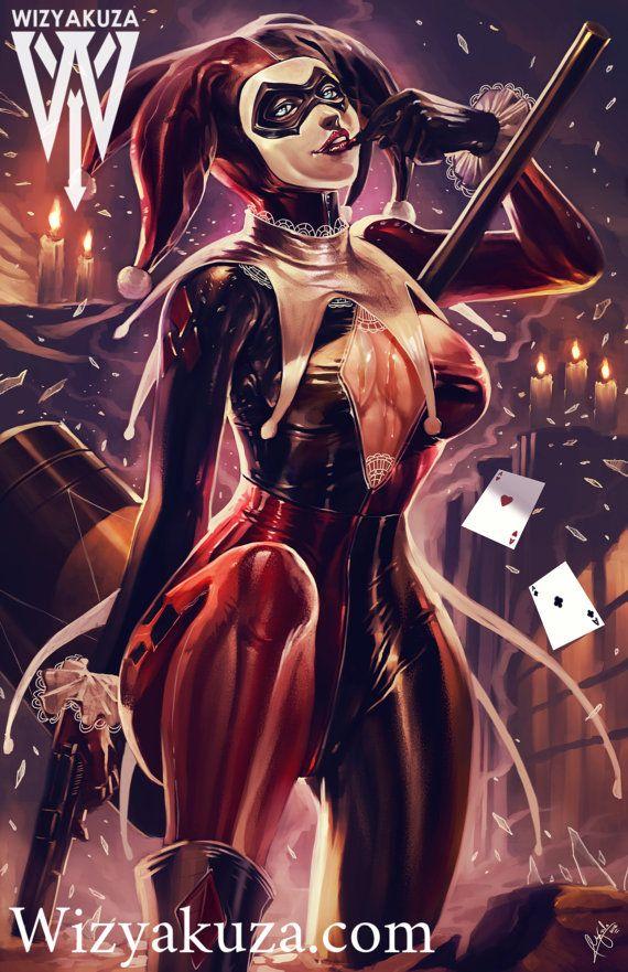 Harley Quinn - Batman: La serie animada - impresión de pintura Digital de 11 x 17