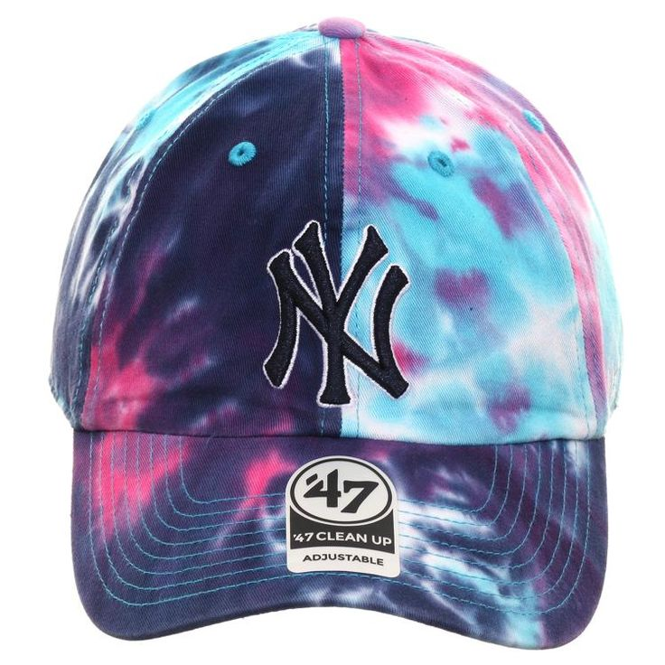 New York Yankees Scarlet Red Black White Big Wordmark New Era 59Fifty Fitted Hat