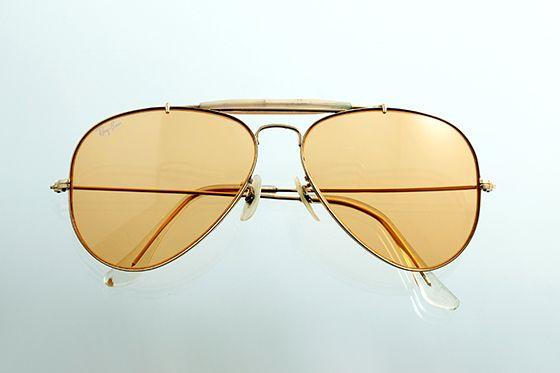 Ray-Ban アビエイター 1970年代 ボシュロム社製 60mm ゴールド×アンバー sun-r02 - アンティーク&オールディーズ オンラインストア