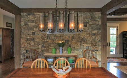 Stone Accent Wall | Dining Room Ideas | Pinterest | Stone Accent Walls