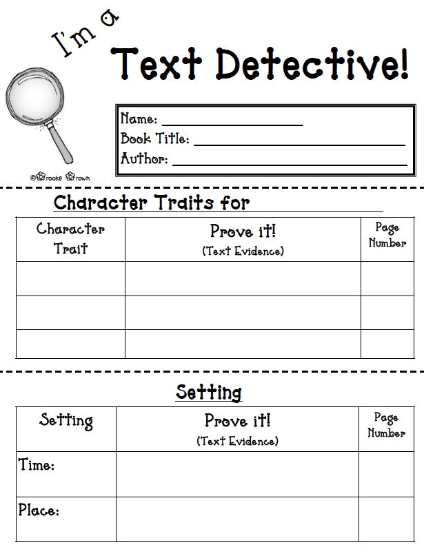 "The Best of Teacher Entrepreneurs: FREE LANGUAGE ARTS LESSON - ""I'm a Text Detective!"" {FREE Reading Response Mini-booklet}"""