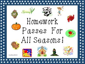 $ Updated to include all 12 months!  Everyone wants to be recognized for their effort and good work.  Here is a great way to reward your students without breaking your bank account!  This product contains 12 different homework passes appropriate for each month of the year.