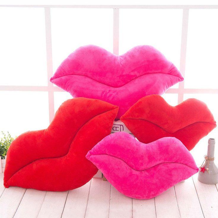 Soft Plush Sexy Large Lip Throw <font><b>Pillow</b></font> Waist Cushion Cute Bed