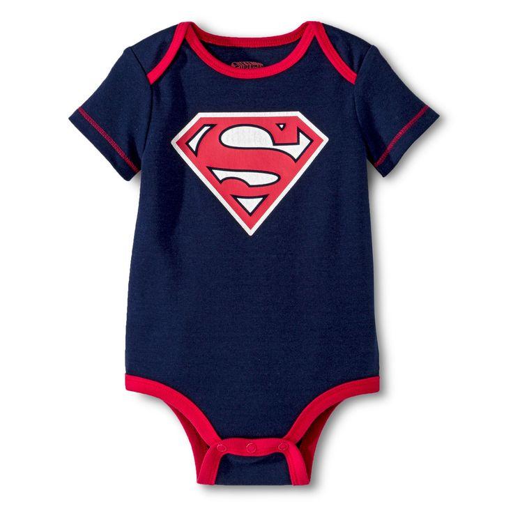 Superman Baby Boys' Bodysuit - Navy (Blue) 0-3 M