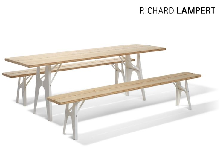 Perfect. Beautyful. Comfortable. – table and bench ›LUDWIG‹ by Alexander Seifried