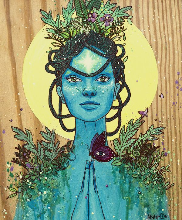 """solcreative: """"Meditation on Mother Nature by Annelie Solis """"Mother Nature sings to the human being, 'Your purpose is to be the most cherished manifestation of my sublime graces and energies. You were..."""