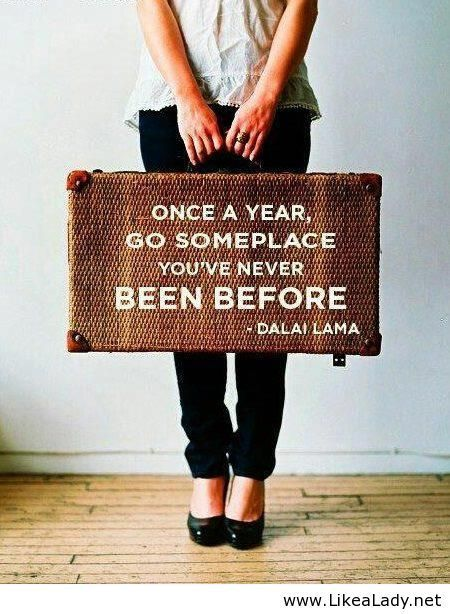 This would be a fun tradition to start once I'm married, so I'll always have a travel buddy :)