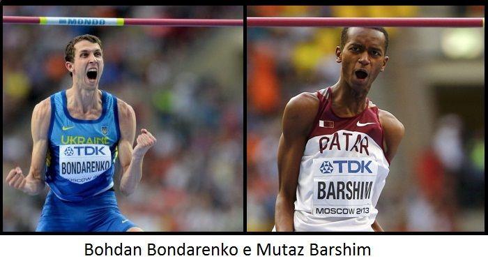Bohdan Bondarenko e Mutaz Barshim nell'alto ieri a New York riscrivono la storia della specialità