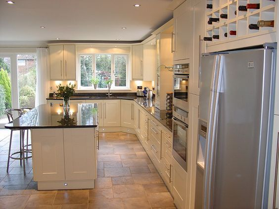love the kitchen/island/style and this is the layout we were talking about - shows where double doors would be - see other view too