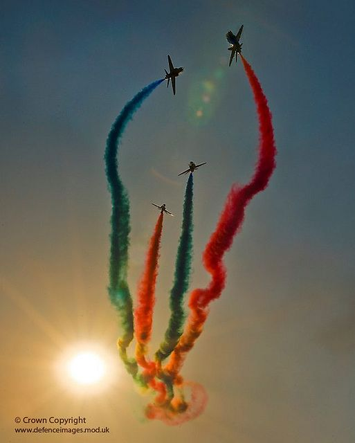 Red Arrows Display Over RAF Shawbury by Defence Images, via Flickr