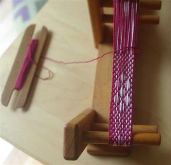 Inkle weaving pickup patterns #fibrearts #inkleweaving