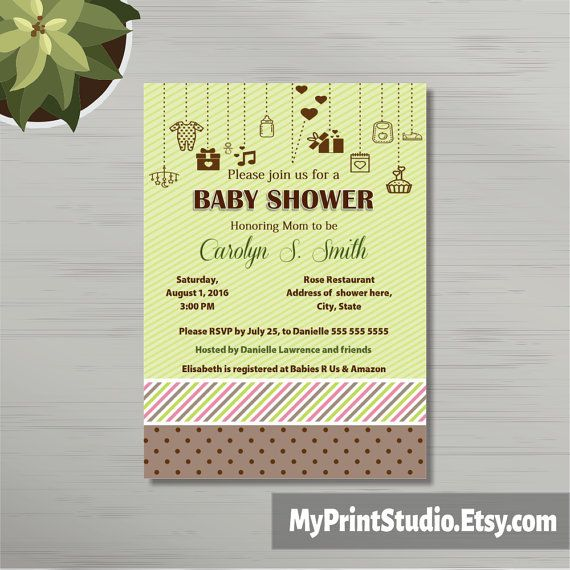 46 best Baby Shower Invitations images on Pinterest Baby shower - baby shower invitation templates for microsoft word