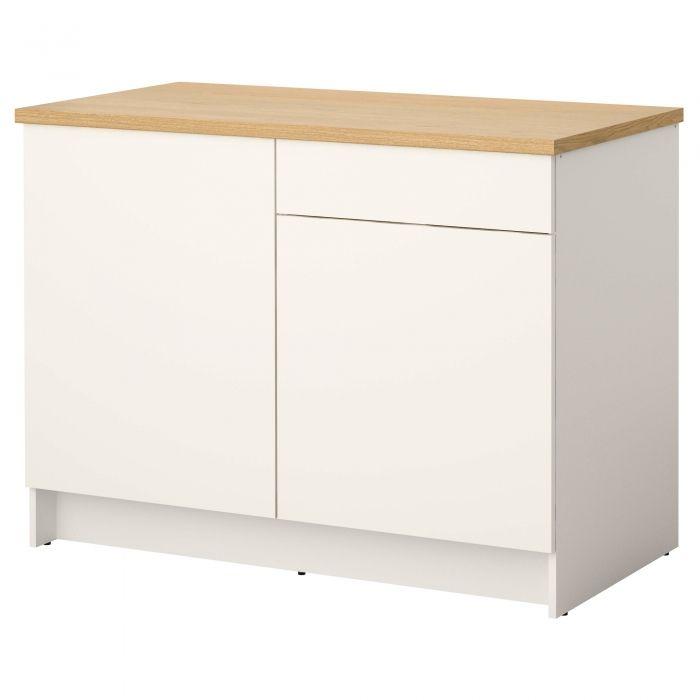 KNOXHULT Corp bază cu uși și sertar 120 cm alb